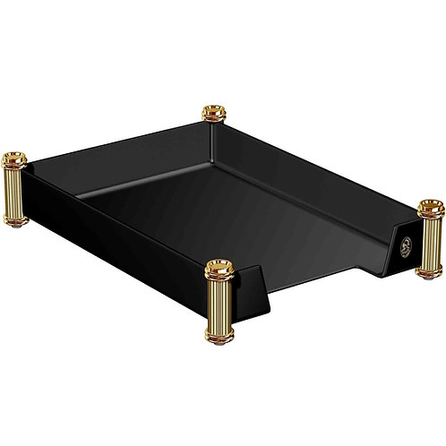 El Casco 23K Gold & Black Letter Tray