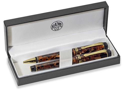 Kaweco DIA2 Limited Edition Set in Amber Resin