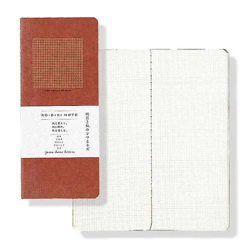 Yamamoto Ro-biki Notebook - Red (Grid Pages)