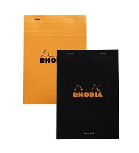 """Rhodia No. 16 Lined w/ Margin Staplebound Pad (6 x 8 ¼ """")"""