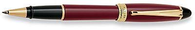 Aurora Ipsilon Bordeaux Resin with Gold Trim Rollerball