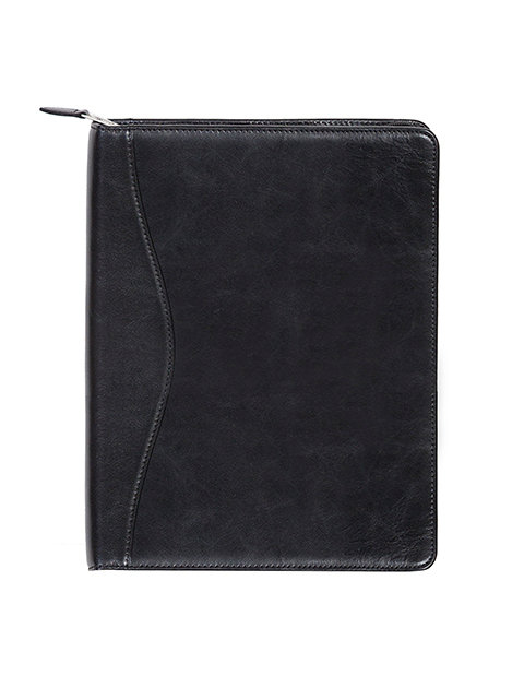 Scully Italian Leather Zippered Padfolio