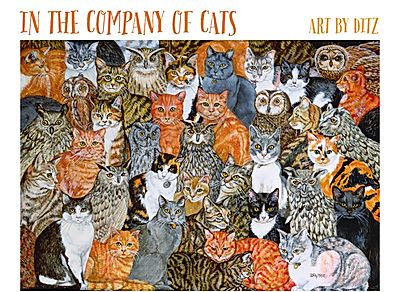 Ditz: In the Company of Cats Boxed Note Cards