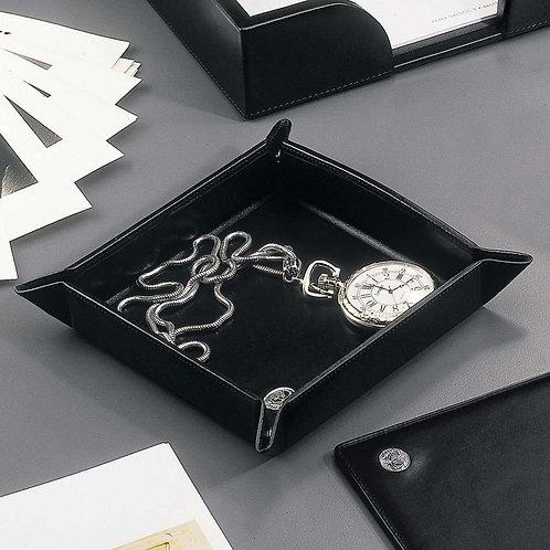 El Casco Black Leather Pocket Tray