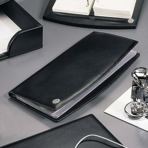 El Casco Black Leather Business Card Holder