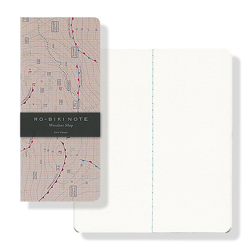 Yamamoto Ro-biki Notebook - Weather Map (Blank Pages)