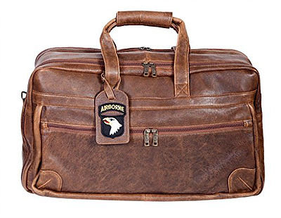 Scully Squadron Leather 2-Zip Duffle Bag