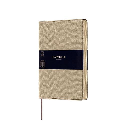 Castelli Harris Tweed A5 Medium Ruled Notebook