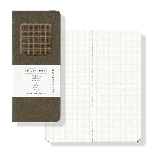 Yamamoto Ro-biki Notebook - Khaki (Dot Grid)
