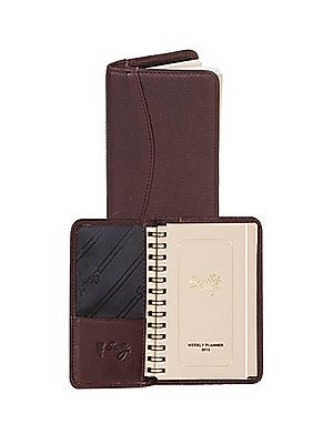 Scully Soft Plonge Leather Wirebound Mini Planner