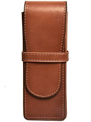 Aston 3 Leather Pen Box - Brown