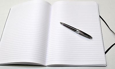 Clairefontaine Basics 8 x 11 Black Clothbound Notebook