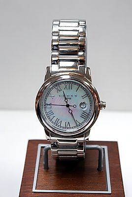 Cross Wristwatch with Mother of Pearl Face