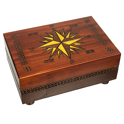 Polish Wood Box - Cartography