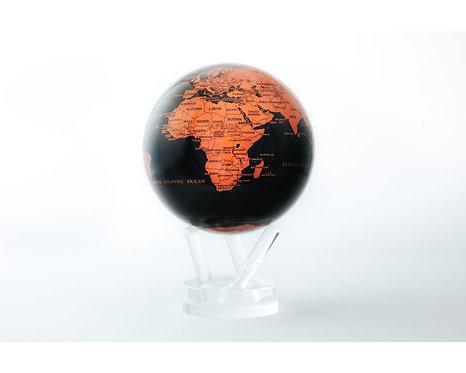 "MOVA 4.5"" Copper & Black Rotating Globe"
