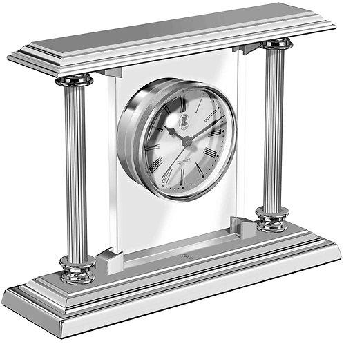 El Casco Chrome Plated Desk Clock
