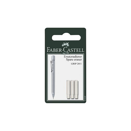 Faber-Castell Eraser Refills for Grip 2010/2011 Pencils - 3 pack