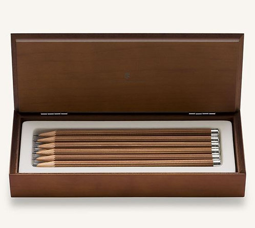 Graf von Faber-Castell Wood Box with 12 Pencils