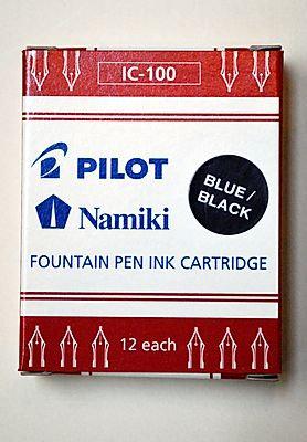 Pilot Fountain Pen Ink Cartridges - Blue/Black