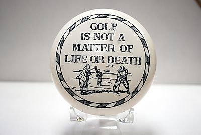 """Paperweight """"Golf is not a matter of life or death."""""""