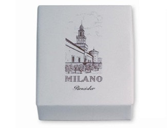 Pineider Milano Box 25 flat cards + envelope - 3x5