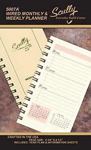 Scully 5007A 2020 Wired Monthly & Weekly Planner