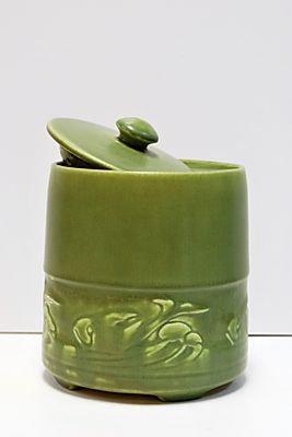 Rookwood Jar with Lid - Carp Motif, 1921