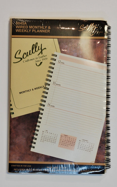 Scully 5045A 2021 Wired Monthly & Weekly Planner