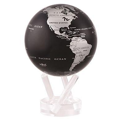 "MOVA 4.5"" Silver & Black Rotating Globe"