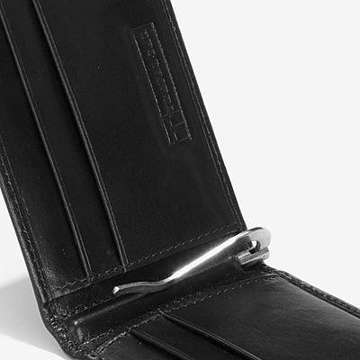 Trafalgar Cortina Leather Money Clip - Black