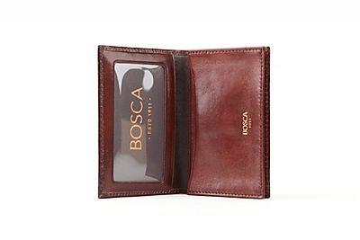 Bosca Full Gusset, 2 Pocket Card Case w/ I.D.
