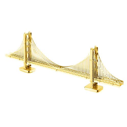 Metal Earth Gold Golden Gate Bridge