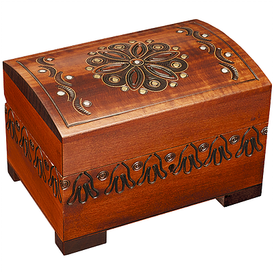 Polish Wood Box - Assorted Forest Goodies