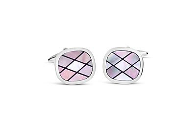 Oval w/ Smoked Mother of Pearl & Onyx Cufflinks