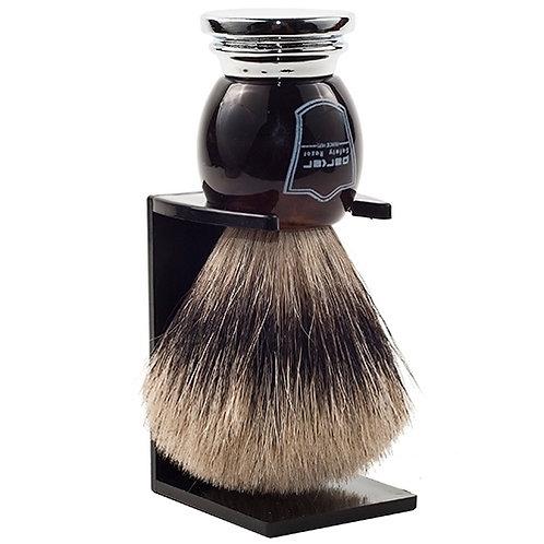 Parker Deluxe Horn & Chrome Pure Badger Shaving Brush