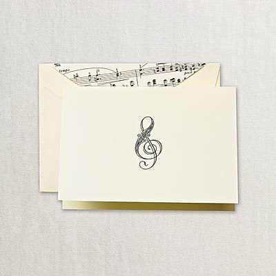 Crane Treble Clef Notes with Envelopes