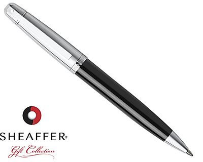 Sheaffer 500 Black/Chrome Ballpoint Pen