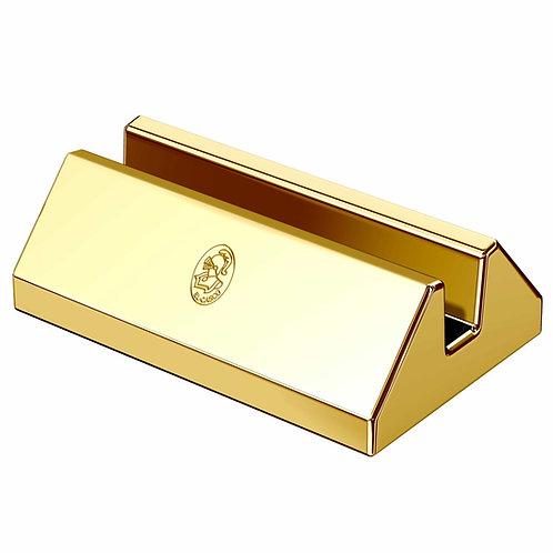 El Casco 23K Gold Plated Desk Card Holder M-670