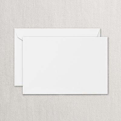 Crane Pearl White Correspondence Cards w/ Envelopes