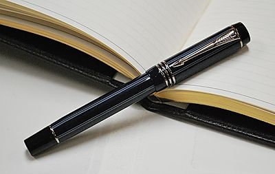 Parker Duofold Blue Pinstripe Rollerball