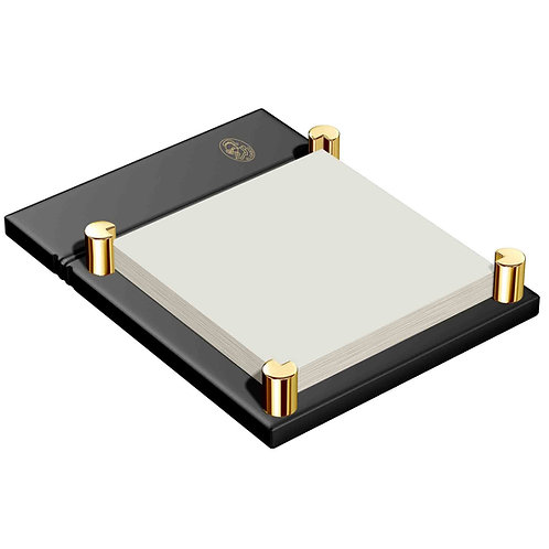 El Casco 23K Gold & Black Sticky Notes Holder M671
