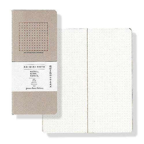 Yamamoto Ro-biki Notebook - Pink Beige (Dot Grid)