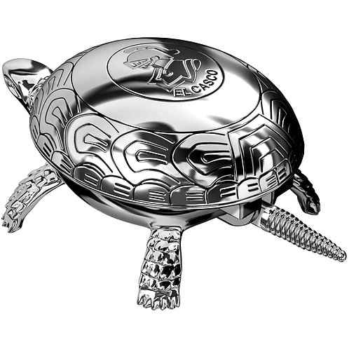 El Casco Chrome Turtle Paperweight & Bell