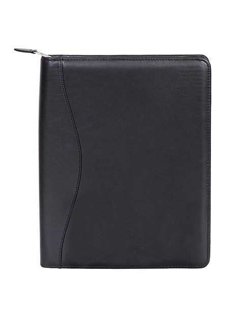 Scully Soft Plonge Leather Zippered Padfolio