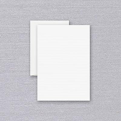 Crane Pearl White Ruled Half Sheet Stationery