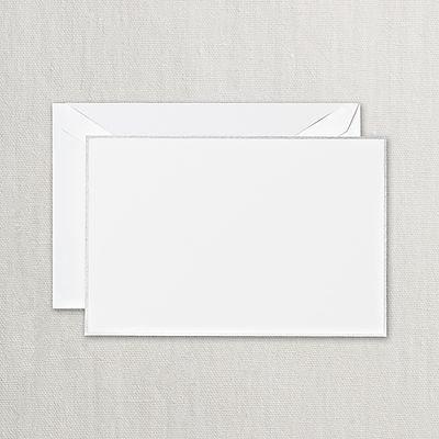 Crane Platinum Border Correspondence Cards