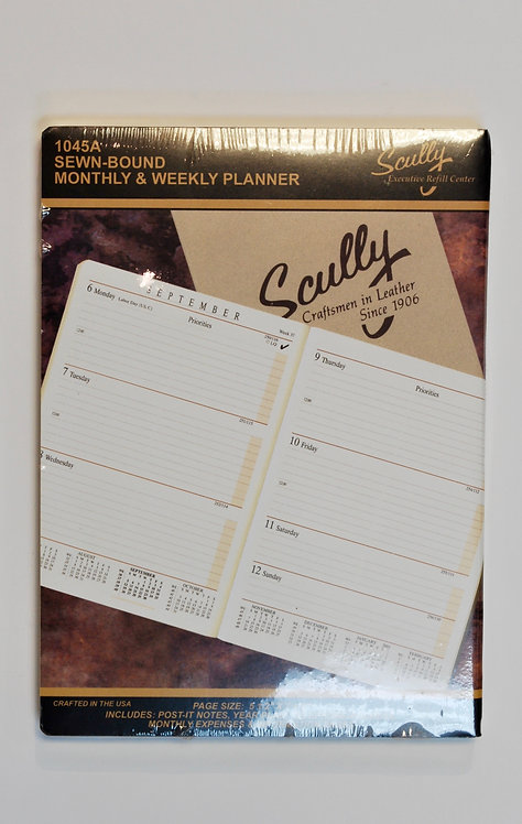 Scully 1045A 2021 Monthly & Weekly Planner Refill