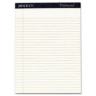 TOPS Docket Diamond White Legal Pads - 2/box
