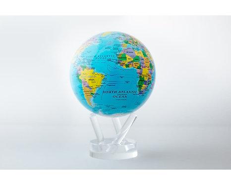 "MOVA 4.5"" Blue Geo-Political World Map Globe"