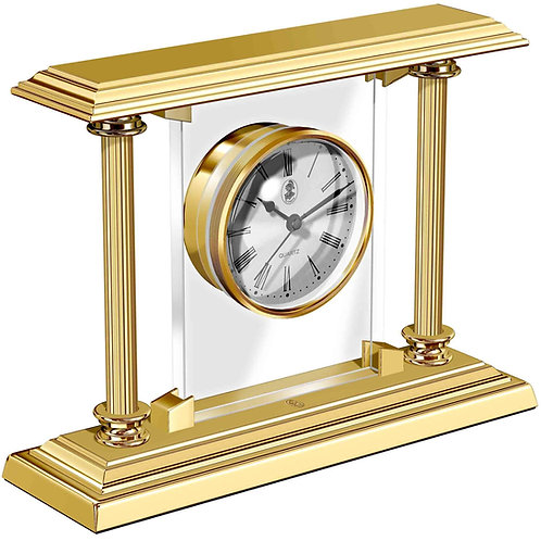 El Casco 23K Gold Plated Desk Clock